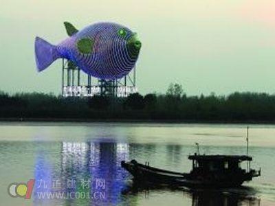 江苏扬中7000万建地标河豚塔 申报吉尼斯纪录