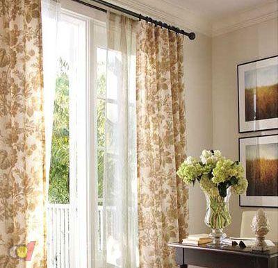 简欧客厅窗帘装饰效果图