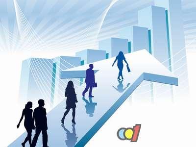 企业高楼背景图素材