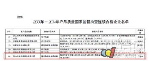 东鹏洁具连续6年6次以上抽查产品合格