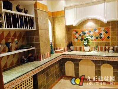砖砌厨房在美式,田园等装修风格中很常见.