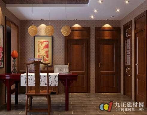 中式实木门图片