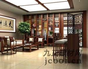 中式门厅效果图