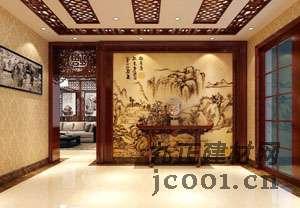 中式玄关装修效果图