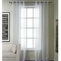 白色窗帘安装效果图片