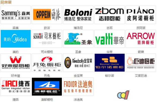 2017中国建博会(广州)知名参展品牌