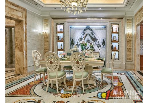 金丝玉玛瓷砖法式风格:美