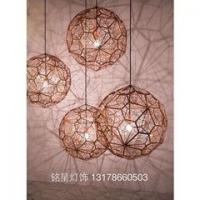 北欧工业风复古简约现代工程灯具不锈钢球形客厅会所别墅吊灯