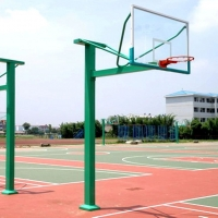 方管固定篮球架 学校场地篮球架 运动场地篮球架的供应
