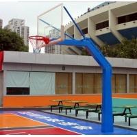 大小头透明板篮球架 地埋方管篮球架的供应
