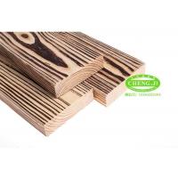 南方松碳化木地板 户外庭院地板 防腐实木板材 刻纹火烧板炭烧