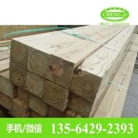 南方松原木板材 南方松防腐木方/木条装饰圆柱