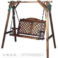 碳化防腐木不带蓬户外秋千椅花架休闲凉亭吊椅秋千椅庭院