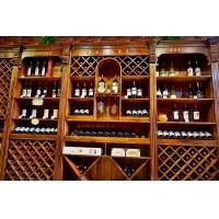 定制复古实木酒柜创意木质酒吧吧台欧式红酒展示柜隔断