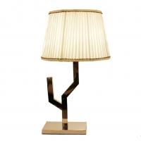 爵镁新中式现代简约台灯、卧室书房不锈钢台灯