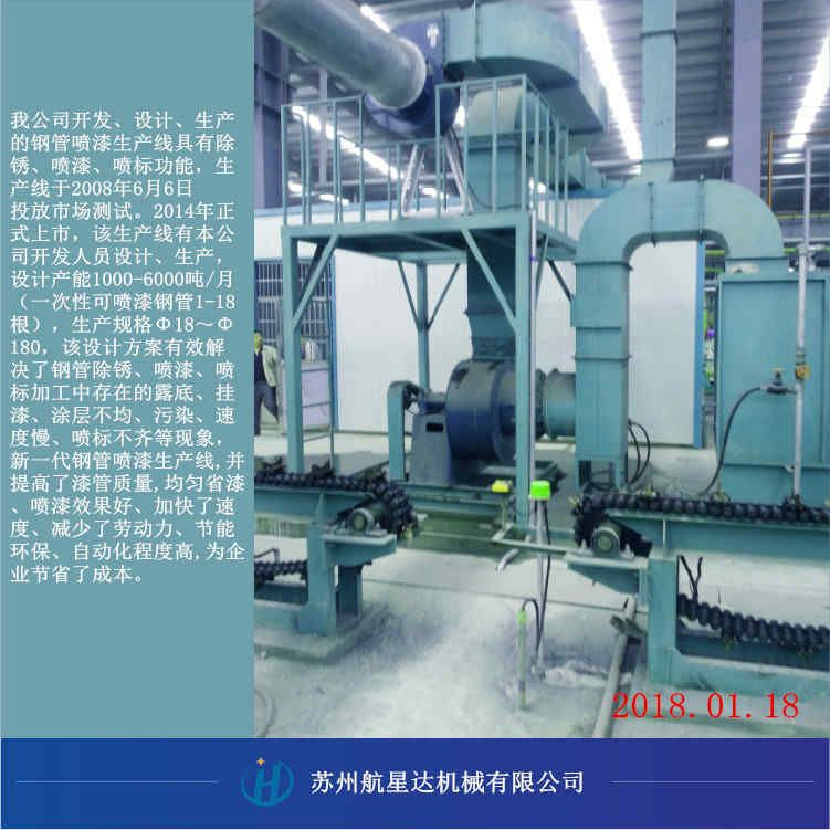 钢管喷漆生产线HXD--SCX300