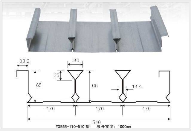卓安诚铝镁锰合金屋面板,闭口楼承板
