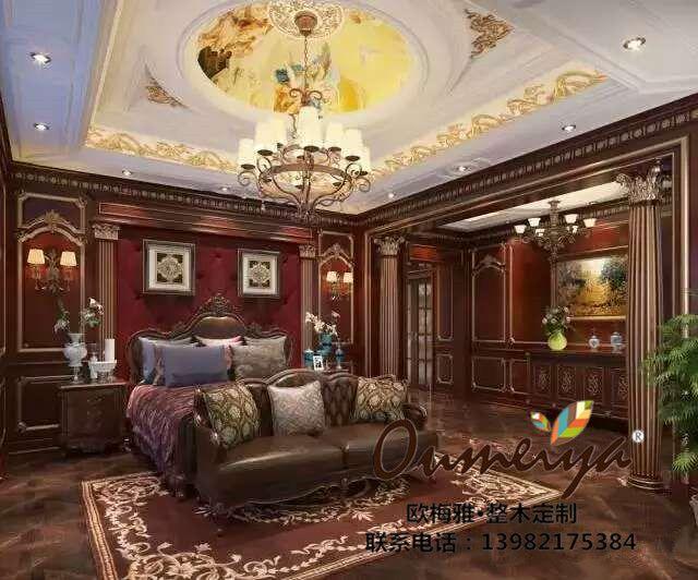 欧梅雅整木定制欣赏——卧室背景墙
