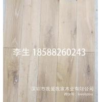 白橡木磨损做旧多层拉丝地板、微倒角水洗带结疤复古浮雕地板