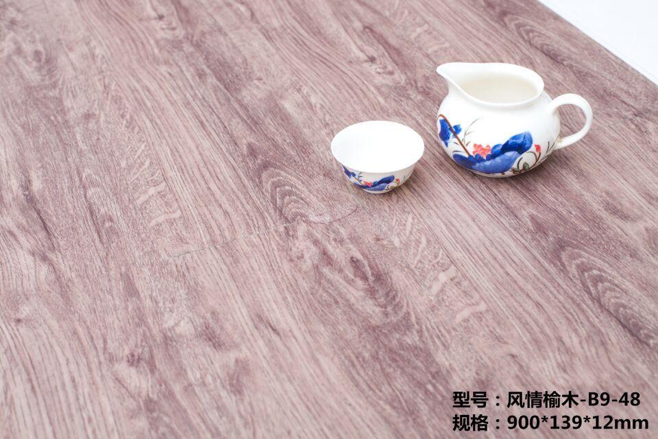 12厚家用加厚微晶地板仿木地板防水防滑地胶耐磨石木地板