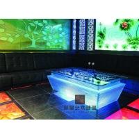 ktv茶几 led发光钢化玻璃桌子 酒吧吧台