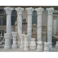 草白玉石材罗马柱订做  曲阳大理石罗马柱制作