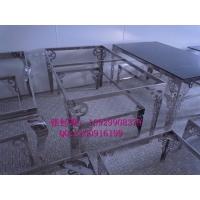 东莞豪华KTV玫瑰金餐桌架不锈钢欧式茶几脚 不锈钢茶几脚