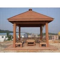 江苏常州塑木凉亭厂家直销林可木塑 四角亭3米*3米