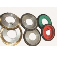 打粗钢丝轮 定型机压边钢丝轮 钢丝毛刷盘 铝盘钢丝轮 