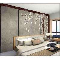 连锁酒店床头硬包背景墙壁画 家装皮革硬包墙布壁纸无缝
