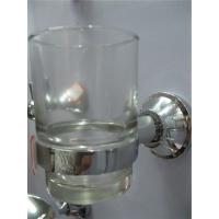 畅达卫浴全铜玻璃双杯架 浴室卫生间牙刷 漱口杯 情侣夫妻杯架