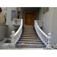 S-970天然白色大理石楼梯扶手