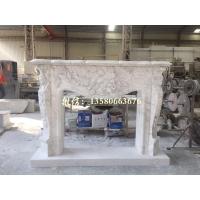 希腊进口A级爵士白大理石雕刻壁炉架