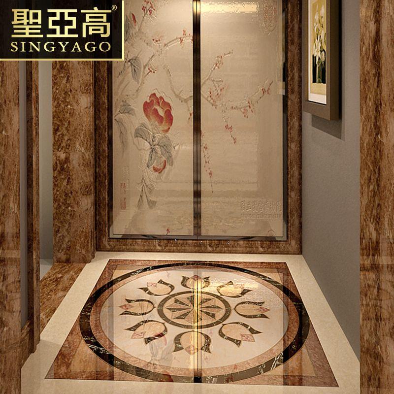 客厅抛晶砖地砖欧式中式地毯抛金砖