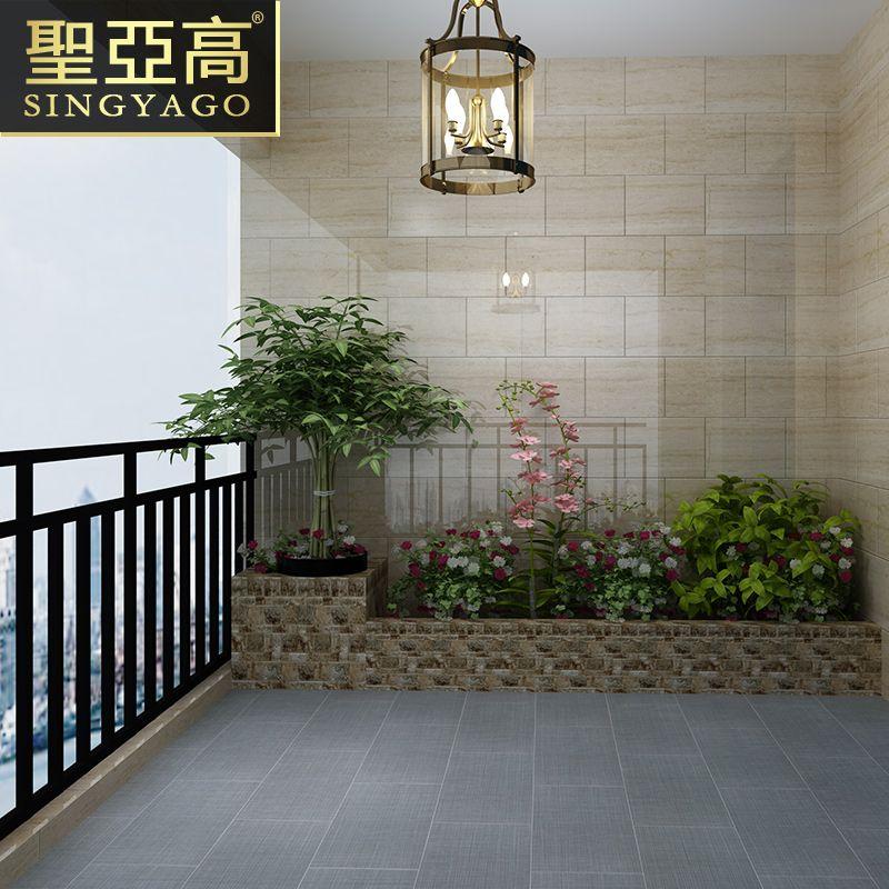 圣亚高瓷砖 仿古砖600x600卫生间厨房阳台地砖防滑耐磨