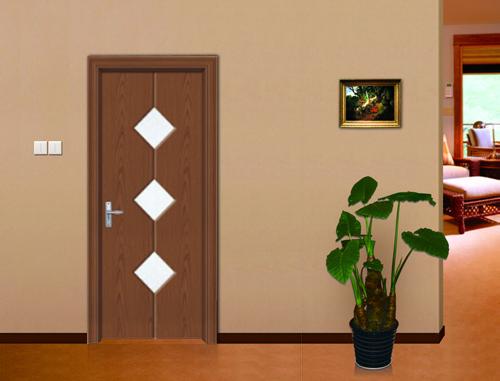 旭派免漆门玻璃门系列厂家直销现代风格美观时尚房间门