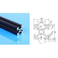 松江铝型材展示台2020黑色欧标铝型材厂直销