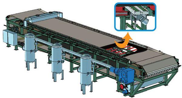 工作原理 带式压滤机分为三个步骤进行过滤及