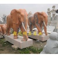 武汉石雕大象/武汉大理石大象/武汉石雕厂