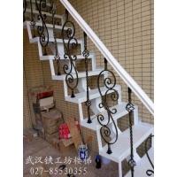 阁楼直线铁艺楼梯效果图|仙桃铁艺楼梯|组装铁艺扶手