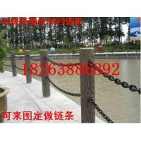 镀白锌12mm护栏链条,河道桥梁隔离铁链