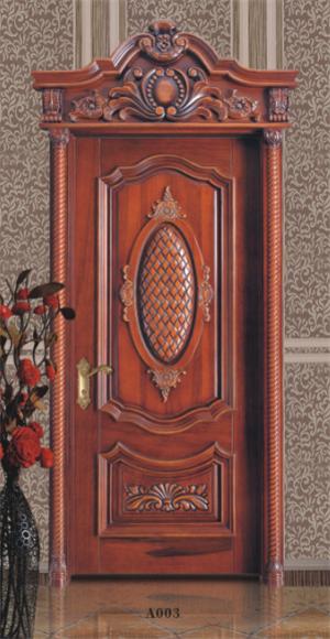 实木烤漆雕花门