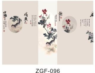 广东集成墙面,佛山世居宝工笔花鸟壁画背景墙定制