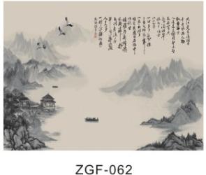 广东世居宝装饰材料产品山水画电视背景墙