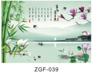 广东世居宝装饰材料板清雅江南水乡风景画电视背景墙