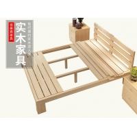 包邮1.8/1.5米松木床 简易实木床单双人床儿童床 简约储