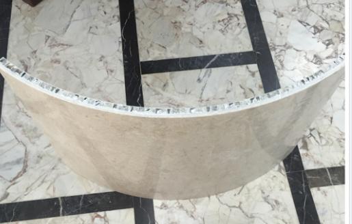大理石蜂窝板,弧型石材蜂窝板