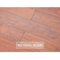 NJ-0666 黑胡桃 多层实木加热地板