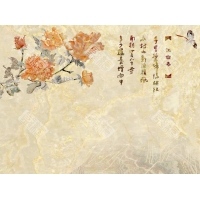 盛绘瓷砖背景墙---【花语江南】