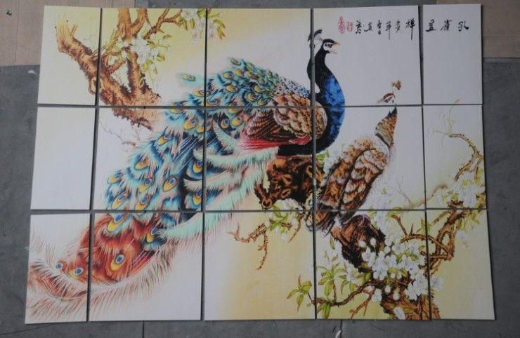 瓷砖万能平板打印  艺术玻璃电视背景墙UV喷绘